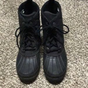 Black Sperry Waterproof Rubber Boot